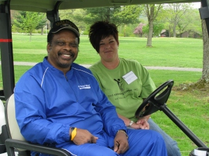 Baseball great Al Oliver and The Counseling Center's Director of Admissions Andrea Queen